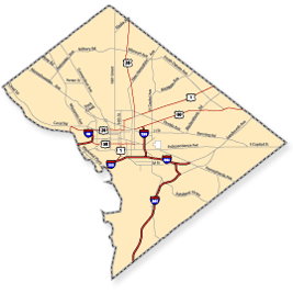 Accessible areas in DC