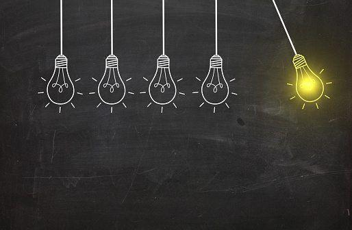 New idea bulb concept