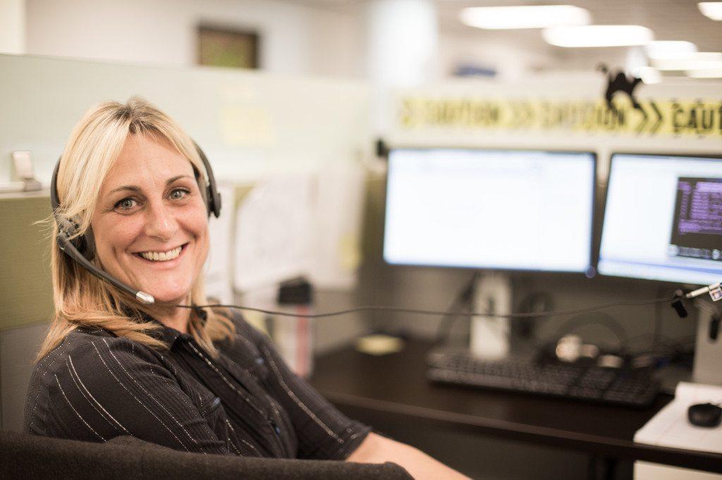 A Customer Service Representative in MTM's Charleston, West Virginia call center.